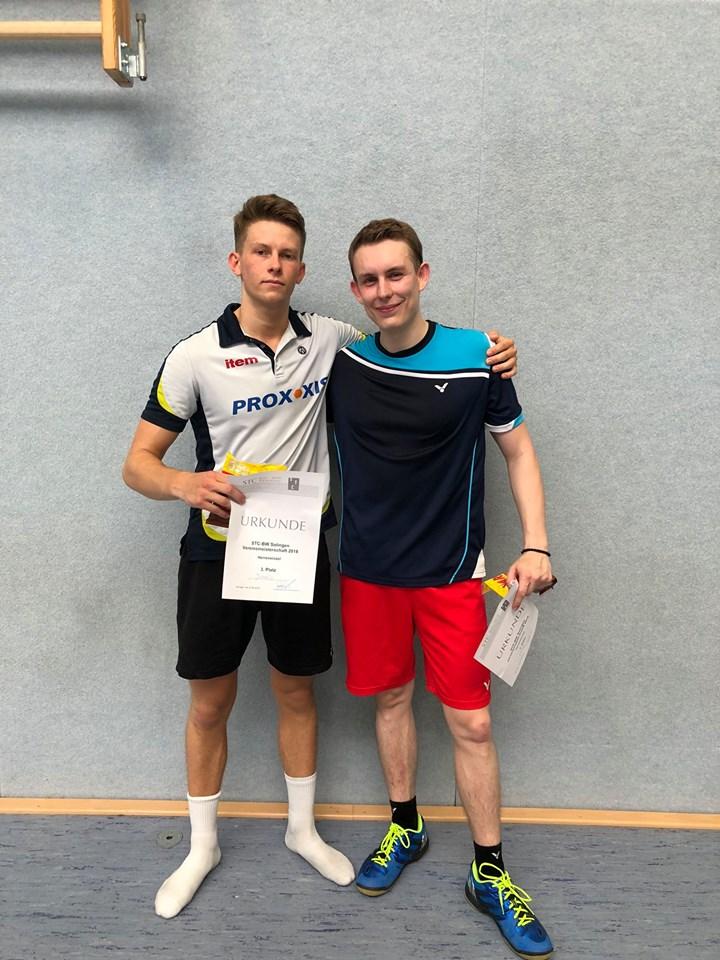 1. Platz Niklas Niemczyk 2. Platz Steffen Becker 3. Platz Jannis Greiner