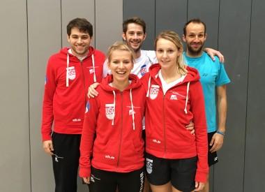 v.l. Timon Ufermann, Katharina Altenbeck (1.BV Mülheim), Jonathan Rathke (1.BV Mülheim), Lea-Lyn Stremlau, Alexander Roovers (1.BV Mülheim)