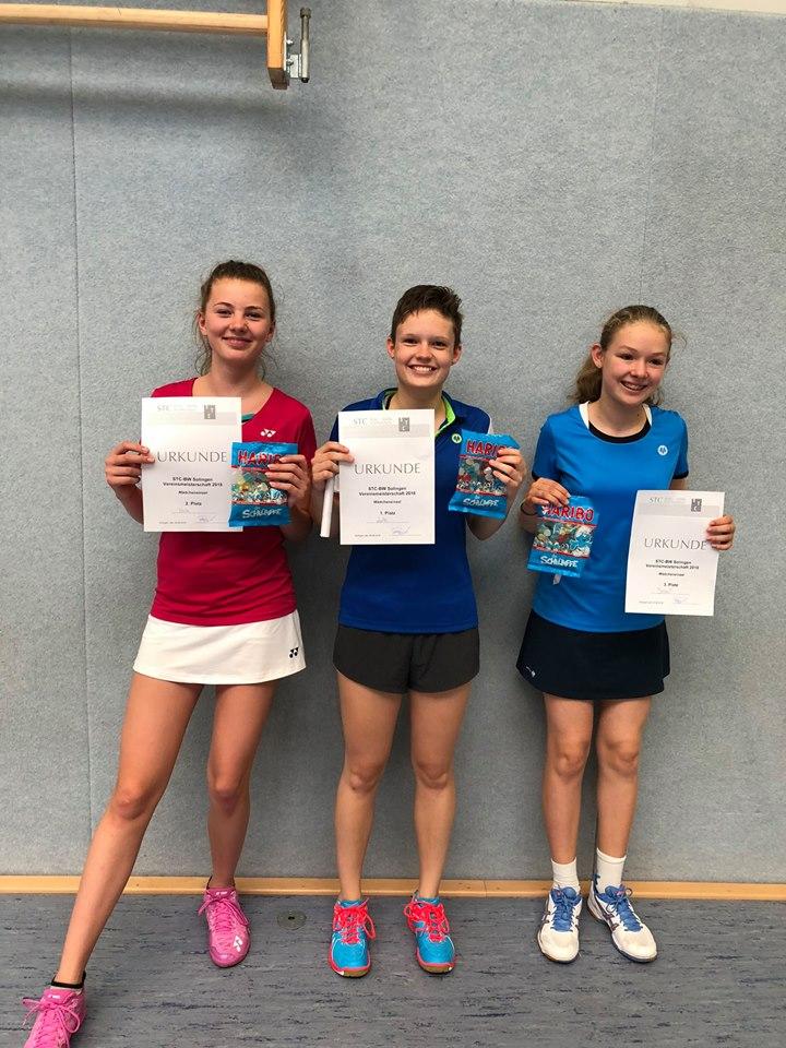 1. Platz Lotte Thomas 2. Platz Isabelle Kulk 3. Platz Jessica Schäfer